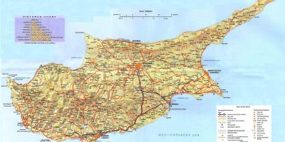 Mapa ng Cyprus holiday resort
